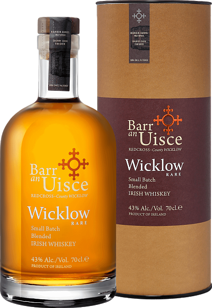 Barr an Uisce Wicklow Rare Small Batch Blended Irish Whiskey 4 YO (gift box), 0.7л