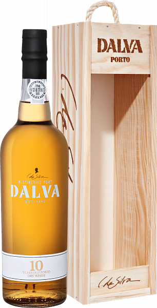 Dalva Porto white dry 10 years old C. Da Silva (gift box), 0.75л
