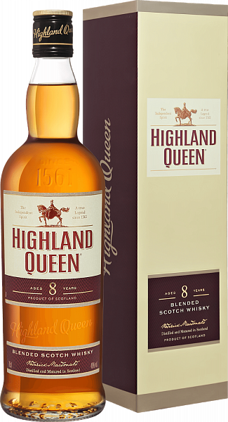 Highland Queen 8 yo Blended Scotch Whisky (gift box), 0.7л